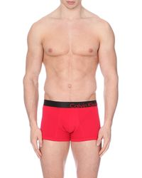 Calvin Klein Bold Stretch-Cotton Trunks - For Men - Lyst