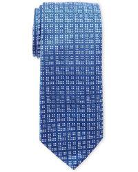 Duchamp | Blue Silk Art Deco Tie | Lyst