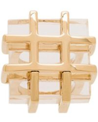 Marc By Marc Jacobs Kandi Cage Ring - Metallic