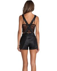 Lamarque - Lola Leather Overalls - Lyst
