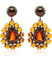 Carole Tanenbaum - S Kjl Amber Cabochon Drop Earrings - Lyst