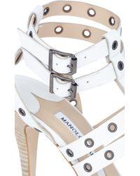 Manolo Blahnik Embellished Ming Gladiator Sandals - Lyst