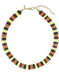 Topshop Colour-Block Sequin Pave Necklace - Lyst