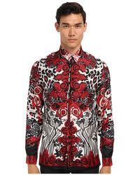 Versace Print Silk Button Up - Lyst