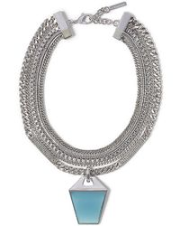 Vince Camuto Multilayer Drama Necklace - Lyst