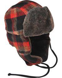Stetson Clovis Plaid Trapper Hat - Black