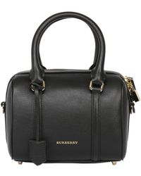 Burberry Small Alchstrarm Leather Top Handle Bag - Lyst