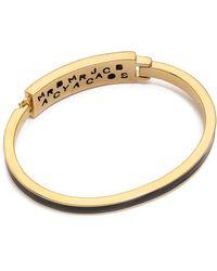 Marc By Marc Jacobs - Standard Supply Fine Enamel Bangle Bracelet Black - Lyst