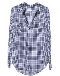 Equipment Plaid Blaise Top with Contrast - Lyst