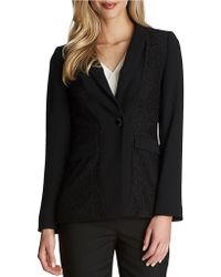 Cece by Cynthia Steffe - Lace Panelled Jacket - Lyst
