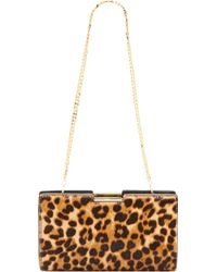 Milly Logan Haircalf Small Frame Clutch  Black - Lyst