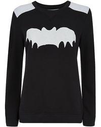 Zoe Karssen Contrast Bat Print Sweater - Lyst