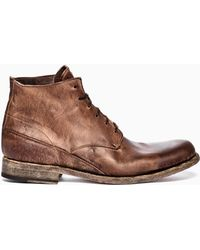 Shoto Washed Leather Boots - Lyst