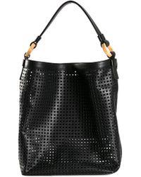PERRIN Paris - Perforated Hobo Shoulder Bag - Lyst