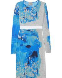Preen Iris Printed Stretch-jersey Dress - Lyst