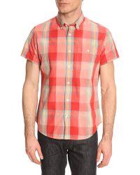 Woolrich Madras Coral Shirt - Lyst