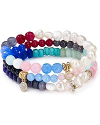 Sequin - Beaded Friendship Key Bracelets, Set Of 3 - Lyst