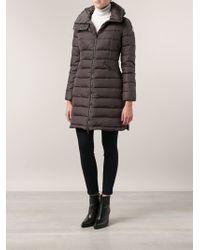 Moncler Flamme Coat - Gray