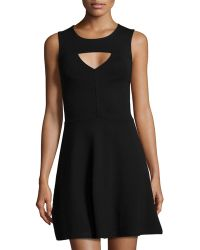 French Connection Cutout Fit-And-Flare Dress - Lyst