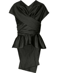 The Row Frances Draped Shantung Top - Lyst