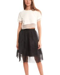 Elizabeth And James Textured Voula Top white - Lyst