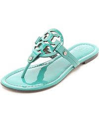 Tory Burch - Miller Thong Sandals - Electric Eel - Lyst