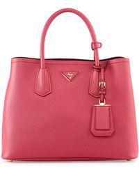 Prada Saffiano Cuir Double Bag - Lyst