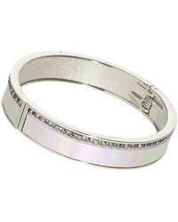 Topshop Metallic Stripe Bracelet - Lyst