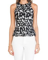 Dolce Vita Hyla Bonded Lace Top in Black - Lyst