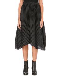 Issey Miyake Multipleated Midi Skirt Black - Lyst