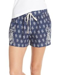 Lucky Brand - Print Cotton Lounge Shorts - Lyst