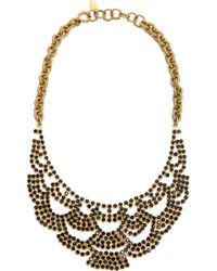Elizabeth Cole Lace Necklace  Jet - Lyst