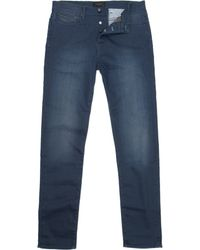 Ted Baker Tapered Fit Jeans - Blue