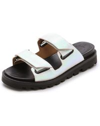 Marc By Marc Jacobs Street Stomp Flat Sandals - Tinted Pearl - White
