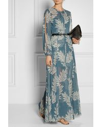 Sass & Bide - The Power Hour Printed Georgette And Jacquard Maxi Dress - Lyst