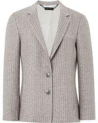Wes Gordon - Celadon Tweed Two Button Blazer - Lyst
