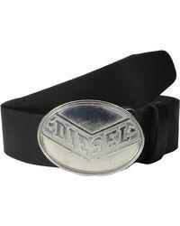 Diesel Black Bisallo Belt - Lyst