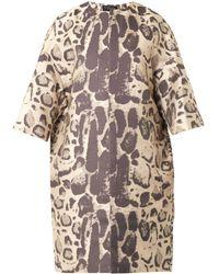 Giambattista Valli Leopard-Jacquard Coat - Lyst