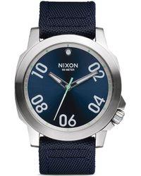 Nixon 'Ranger 45 Nylon' Watch blue - Lyst
