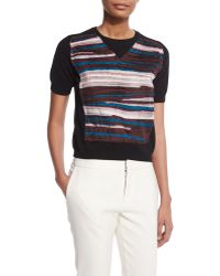 Creatures of the Wind - Chiffon-striped Crewneck Sweater - Lyst