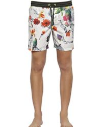 Diesel Floral Printed Nylon Swimming Shorts - Lyst