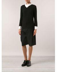 Issey Miyake Foldover Collar Shirt - Lyst