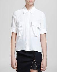 The Kooples Shirt - Silk Crepe De Chine - Lyst