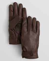 Theory - Raus Lined Deerskin Gloves - Lyst