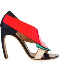 Nicholas Kirkwood X Roksanda Colour-Block Sandals blue - Lyst