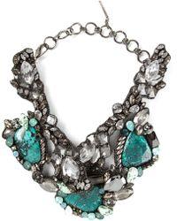 Beavaldes - Crystal Embellished Collar Necklace - Lyst