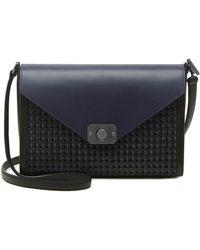 Mulberry Delphie Woven-Leather Shoulder Bag blue - Lyst