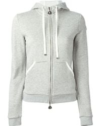 Moncler Gray Hooded Sweatshirt - Lyst