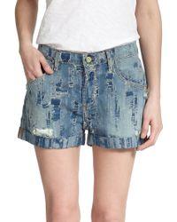 Madegold - Shredded Denim Boyfriend Shorts - Lyst