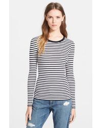 Theory 'Mirzi' Stripe Sweater - Lyst